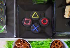 Controller button chocolate covered Oreos from a Gaming + Video Gamer Birthday Party on Kara's Party Ideas | KarasPartyIdeas.com (12)