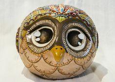 Gufo in ceramica fatto a mano