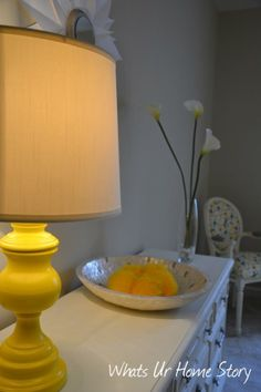 Thrift store lamp makeover with spray paint -Whats Ur Home Story: