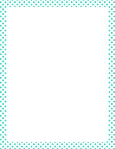 Printable turquoise polka dot border. Free GIF, JPG, PDF, and PNG downloads at http://pageborders.org/download/turquoise-polka-dot-border/. EPS and AI versions are also available.