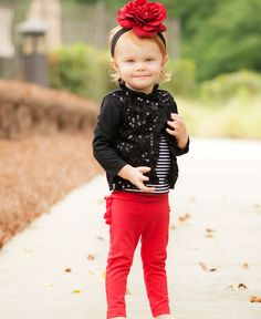 RuffleButts.com - Red Sparkle Stretch Pants
