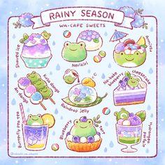 Cute Food Drawings, Cute Animal Drawings Kawaii, Kawaii Art, Japon Illustration, Kawaii Illustration, Cute Food Art, Cute Art, Kawaii Stickers, Cute Stickers
