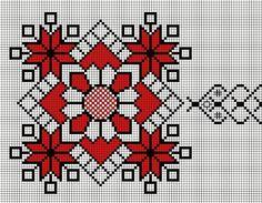 Cusături artizanale din Transilvania  de Livia Gorea Țichindeleanu Cross Stitch Needles, Cross Stitch Embroidery, Embroidery Patterns, Hand Embroidery, Crochet Patterns, Cross Stitch Borders, Cross Stitch Flowers, Cross Stitch Designs, Cross Stitch Patterns