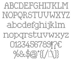 cross stitch fonts