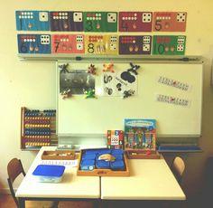 Reken- en cijferhoek. Kindergarten Math, Preschool, New Classroom, Math Activities, Writer Workshop, Mathematics, Writing, Kid Garden, Kindergarten