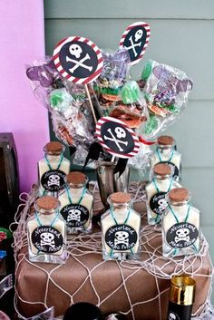 Boy party favors.. pirate theme!.. :)