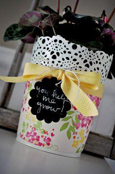 DCWV Chalkboard Flower Pot