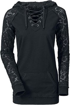 Gothicana by EMP Lace Sleeve Girls hooded sweatshirt black S Gothicana by EMP http://www.amazon.co.uk/dp/B00OKARCJS/ref=cm_sw_r_pi_dp_s15tvb1HY3CK4