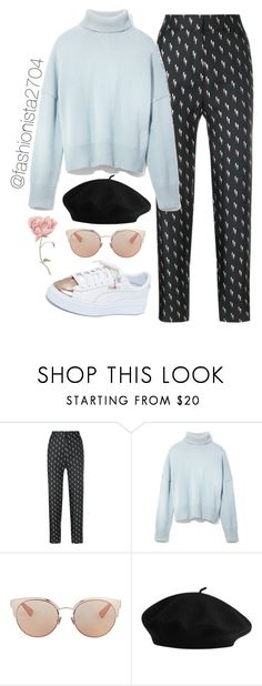 """Untitled #962"" by fashionista2704 on Polyvore featuring Victoria, Victoria Beckham, Frame, Christian Dior and Puma"