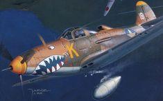 рисунок Bell P-39 Aircobra