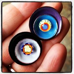Enameled disc stack and double ended lampwork headpin #lampwork #glassaddictions   Flickr - Photo Sharing!