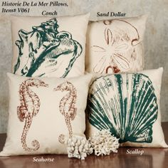 Histoire De La Mer Coastal Seashell Quilt Bedding2000 x 2000944.9KBwww.touchofclass.com  DIY PILLOWS