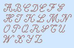 VIVIAN Font Cross Stitch Alphabet (DIY Chart or Machine Embroidery Files)