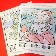 Christmas mystery pictures add the perfect amount of holiday cheer to your addition, subtraction, multiplication, or division lesson!