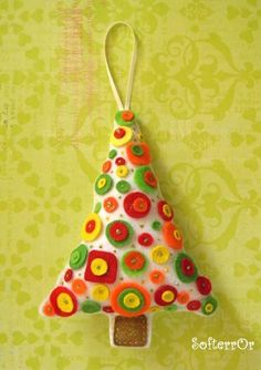 Felt Christmas Ornament Tree