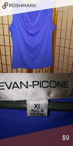 Evan Picone drape front pull over top Royal blue pull over top in great condition! Well taken care of in a pet free smoke free home. Evan Picone Tops Blouses