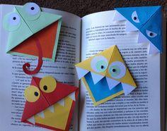 Cómo hacer un marcapáginas original para el día del libro Book Crafts, Diy And Crafts, Crafts For Kids, Arts And Crafts, Monster Bookmark, Daddy Day, Paper Crafts Origami, Stem Activities, Crafty Craft