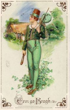 Free Vintage St. Patrick's Day Cards: Irish Lads
