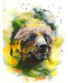 Artist: Janice Lawrence #bear #wildlife #art #watercolor