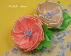 Ribbon Flower Tutorial http://youtu.be/qg1Tg5qoSbc