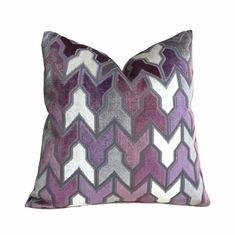Items similar to Designer Arrow Geometric Cut Velvet Purple Gray Cream Pillow Cover, Fits Cushion Inserts on Etsy Cream Pillow Covers, Cream Pillows, Throw Pillows, Purple Grey, Gray, All Covers, Fabric Samples, Velvet, Texture