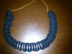 collar del metal con arandelas y trapillo (la cadena no es la definitiva)
