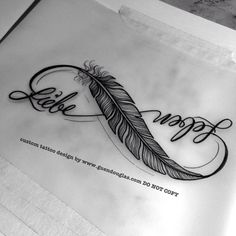 48 Best Ideas For Tattoo Ideas For Kids Names On Wrist Infinity Signs – foot tattoos for women Feather Tattoo Design, Feather Tattoos, Foot Tattoos, Tattoo Thigh, Feather Ring, Paar Tattoos, Neue Tattoos, Tattoos With Kids Names, Tattoos For Women