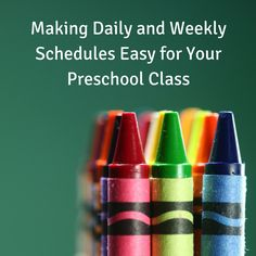 There are many variations of schedules for the preschool classroom, including the ones described in this guide.