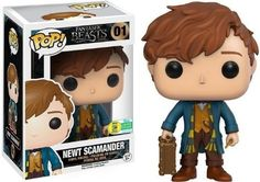 "Fantastic Beasts' Newt Scamander gets his own Funko Pop! collectible""The Funko Pop! figure includes Newt's wand, his Hufflepuff scarf, and the magical case that holds all of his mystical creatures. Pop Vinyl Figures, San Diego Comic Con, Draco Y Hermione, Collection Harry Potter, Harry Potter Pop, Funko Pop Dolls, Pop Figurine, Funko Figures, Disney Pop"