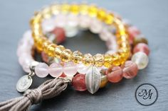 """Wristbands & Bracelets – Bracelets made of pearls """"be blessed"""" – a unique product by Madeleine-Issing on DaWanda"""