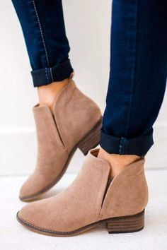 Sizing: 5.5-10 Fits True To Size Stephanie is wearing a 6, usually wears a 6. Material: Faux Suede 1/2 Inch Heel Easy Slip On Black Flats, Black Booties, Long Knit Cardigan, Wedge Sneakers, 2 Inch Heels, Pointed Toe Flats, Color Block Sweater, Taupe, Beige