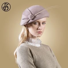 5a6da045 US $36.11 35% OFF|Aliexpress.com : Buy FS Wool Fedora Women Hats Elegant  Black Purple Pillbox Fascinator Felt Hat Wedding Beret Ladies Party Winter  Church ...