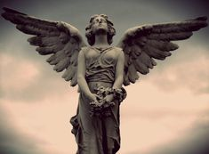 Angel Statue by Vini07...oh craaaaaayolas...Weeping Angels + Wings = the Doctor had better get his bum over here quick!