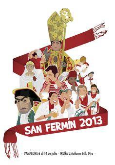 """San Fermín 2013"" Poster"