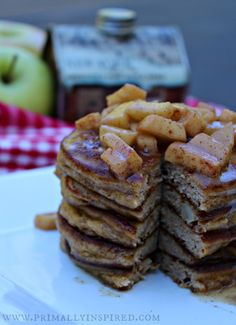 Grain-Free Apple Pie Pancakes  #PrimallyInspired