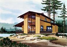 Elevation of Contemporary   Retro   House Plan 98382