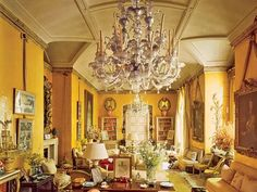 aesthete-living-rooms-nancy-lancaster-london-drawing-room-mario-buatta-patricia-altschul-new-york-interior-design-avery-row-colefax-and-fowler - The Glam Pad Elegant Home Decor, Luxury Home Decor, Elegant Homes, Luxury Homes, Style At Home, Country Style Homes, Luxury Interior Design, Modern Interior, Lancaster London