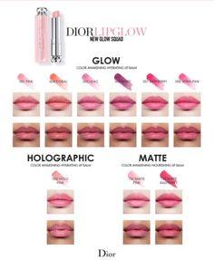 Dior Addict Lip Glow Lip Swatches - Dior Lipstick - Ideas of Dior Lipstick. Dior Lip Glow, Dior Lipstick, Lipstick For Fair Skin, How To Apply Lipstick, Sheer Lipstick, Hydrating Lip Balm, Lipstick Designs, Lip Hydration, Lip Swatches