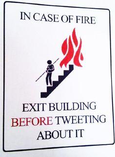 Las nuevas reglas en caso de incendio #humor