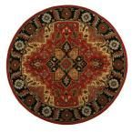 Normandie Rust (Red) 5 ft. 5 in. x 5 ft. 5 in. Round Area Rug