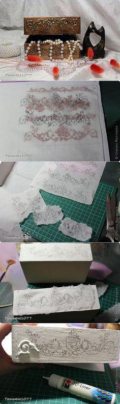 Caixas de decoupage e imitação cunhagem com pasta em 3D  [de Tatyany1077 .. | Decoupage | POST]