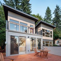 Enjoy the view from above or wander out to this lower level deck. It opens right off from the kitchen, making outdoor entertaining so easy.