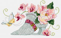 Lace shoe cross stitch
