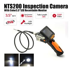 "Free Shipping! Blueskysea 3.5"" LCD Inspection Camera 5.5mm Borescope Endoscope Scope Zoom Rotate 3M Cable"