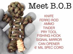 Paracord Survival Kit Doll B.O.B by DeathBearTactical on Etsy