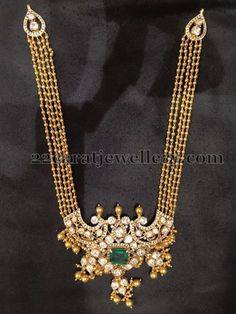 Gold Swirls Multi Chains Long Chain | Jewellery Designs