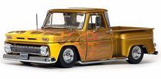 1965 Chevy C-10 Stepside Lowrider la camioneta pickup, Oro - Sun Star 1393 - 1/18 Escala Diecast modelo de coche de juguete