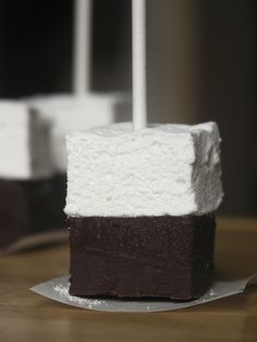 Hot chocolate on a stick and link to home made marshmallow recipe.