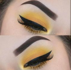 #eyes #eyemakeup #yellow #eyeliner