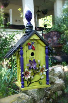 Handmade birdhouse by RedHenBirdhouses on Etsy, $175.00